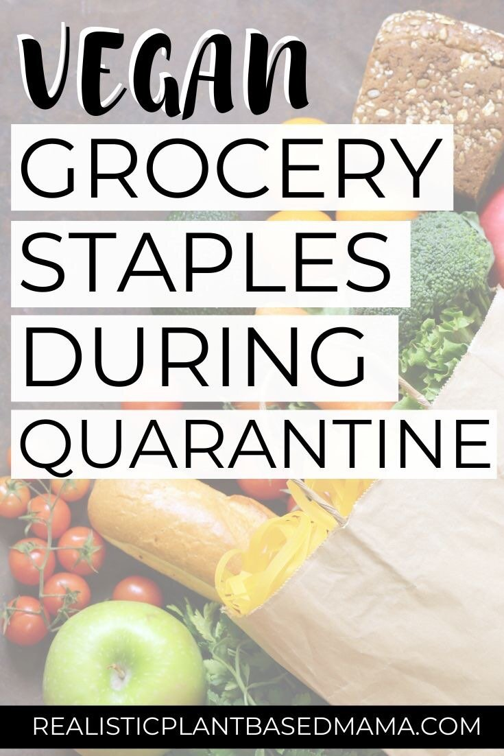 When you are forced to grocery shop for weeks at a time when your normal grocery shopping routine is every few days, knowing what to get can be a challenge. You want to buy things that will last long and still cover all the food groups. If you are wanting vegan grocery staples to purchased while you're in quarantine, this list will help you!